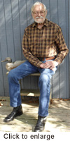 Bill Bean, my Dad, in his 50-year-old custom Justin boots.